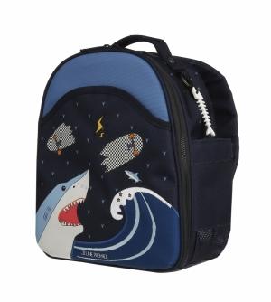 Backpack Ralphie Sharkie logo